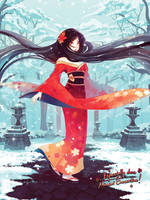 A walk in the asian winter by SaiyaGina