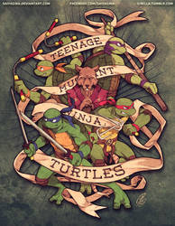 Tortugas Ninja Adolescentes Mutantes by SaiyaGina