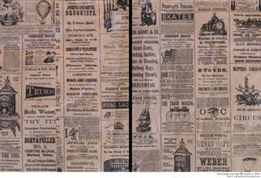 texture: vintage newspaper by sophiaastock
