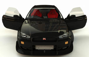Nissan Skyline GT-R34 front by Rookie-