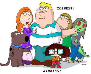 Scooby Doo and Family Guy by bloodymoon100
