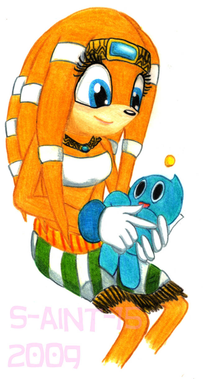 Tikal Caring For Chao Baby By Theorangesunflower On Deviantart