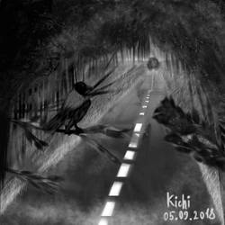 Forest road by S-a-n-t-i-l