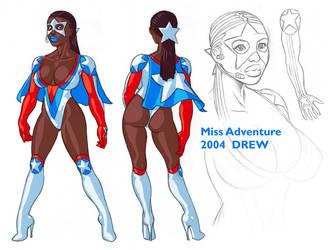 Miss Adventure Modelsheet by DrewGardner