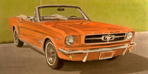1965 Ford Mustang In Oil by Daniel-Storm
