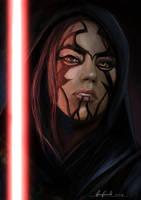 Star Wars girl Sith, sketch. by padraven