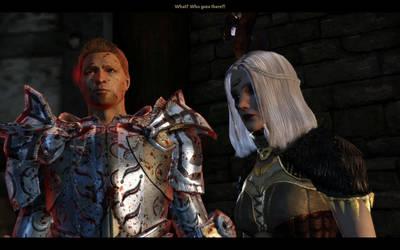 Tissaia and Alistair by palitajimena