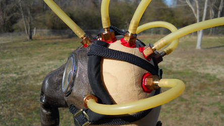 Gas Mask Steam Punk Doll by GhoulieDollies