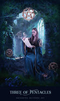 Three of Pentacles by EnchantedWhispersArt