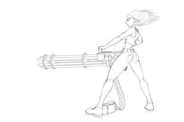 Minigun-action by penrush