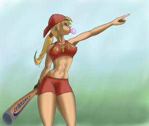 Baseballgirl by penrush