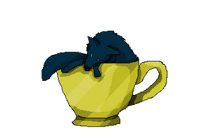 Coffee Cup Wolf Colored by Nicortkl