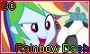 Equestria Girls Rainbow Dash Stamp by NatouMJSonic