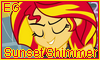 EG Sunset Shimmer Stamp by NatouMJSonic