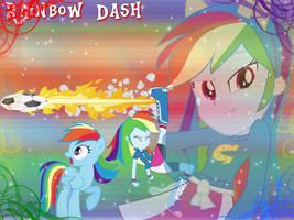 Rainbow Dash Wallpaper by NatouMJSonic