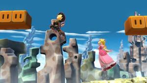 Jump Jump, Ramos and Peach by NatouMJSonic