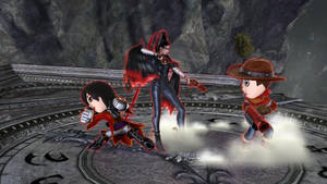 Bayonetta teams up with the cousins by NatouMJSonic