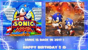 Happy Birthday Sonic 2017 Wallpaper by NatouMJSonic