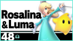 SSBU 48 Rosalina and Luma Stamp by NatouMJSonic