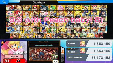 My new record Super Smash Bros Ultimate Peach by NatouMJSonic