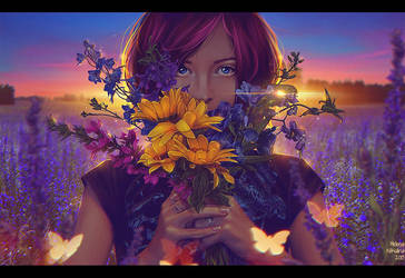 Sunset (Commission) by Nikulina-Helena