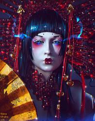 Ruby Geisha (Commission) by Nikulina-Helena
