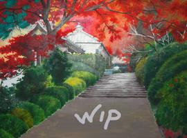 WIP - Japanese Garden by BlueShining