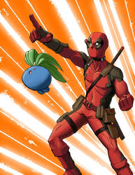 Deadpool and Oddish Go To War by masterpug13