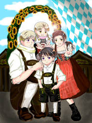 The Rochu family on the Wiesn by blackcurrantjam