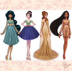 Disney Princesses Dreams Collection II by MidaIllustrations
