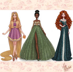 Disney Princesses Dreams Collection III by MidaIllustrations