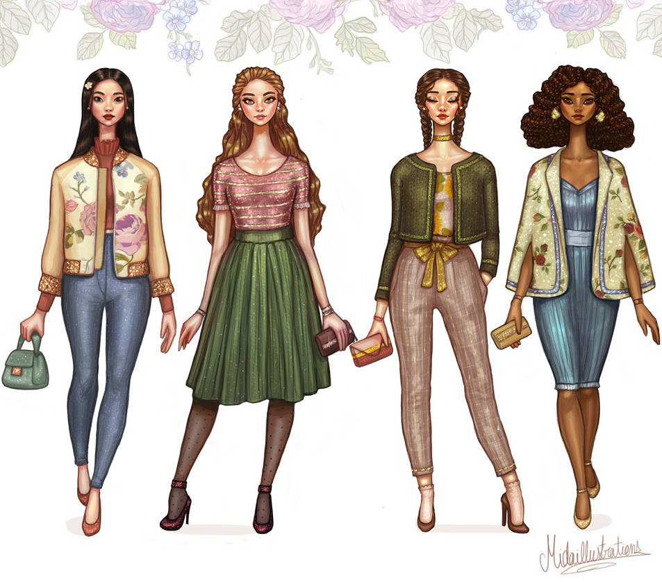 Spring Looks by MidaIllustrations