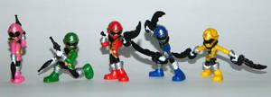 Mini Super Megaforce Rangers by LinearRanger