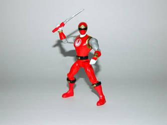 Red Ninja Storm Ranger Action Hero by LinearRanger