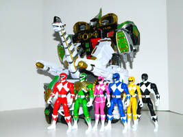 Rangers and Ultrazord 2 by LinearRanger