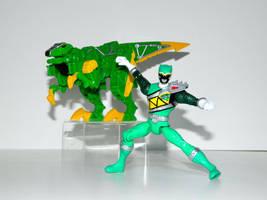 Velociraptor Power Ranger Green by LinearRanger