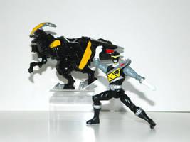 Parasaurolophus Power Ranger Black by LinearRanger