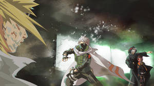 Kakashi vs Kabuto by Guennol
