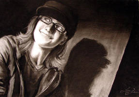 Charcoal Self-Portrait by Mai-Ekaki