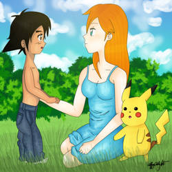 You Look Like Your Father - Pokeshipping by artbytiffany