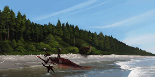 Beach Boys of Hell Creek (Saurian fanart) by TheWoodParable