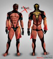 Virtua Fighter - El Blaze Xtreme Concept Art by DaemonCollection