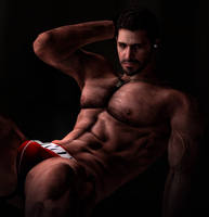 Chris Redfield Jockstrap Photo Render by DaemonCollection