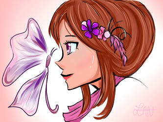Girl and Butterfly 2 by ZaneerahY