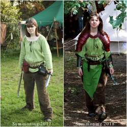 LARP costume, one year later by talkenia