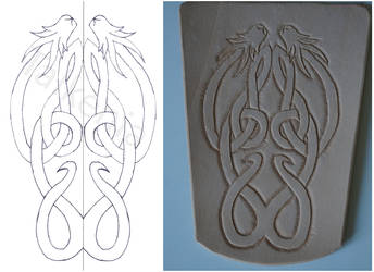Archery bracer: From drawing to leather by talkenia