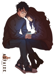 Render Harry and Hermione by Advaize