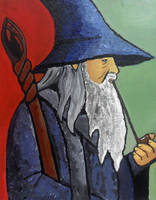 Gandalf (Portrait of a Wizard)|Post Impressionism by janique-marie