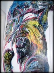 This wallpainter job  Oxossi 1 by Pedro-Elefante