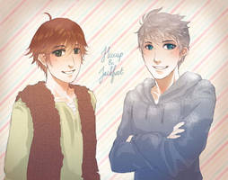 Hiccup and Jackfrost by ChartreuseFae